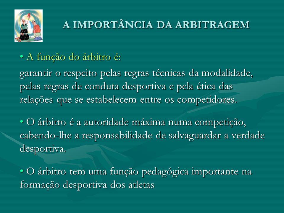 A IMPORTÂNCIA DA ARBITRAGEM