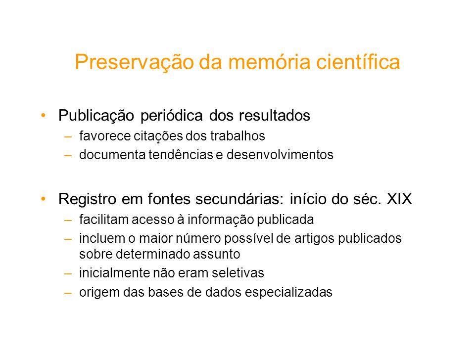 Preservação da memória científica