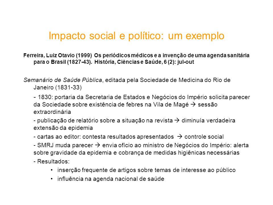 Impacto social e político: um exemplo