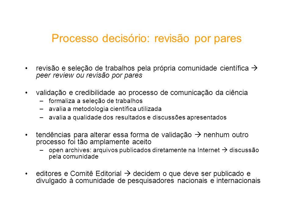 Processo decisório: revisão por pares