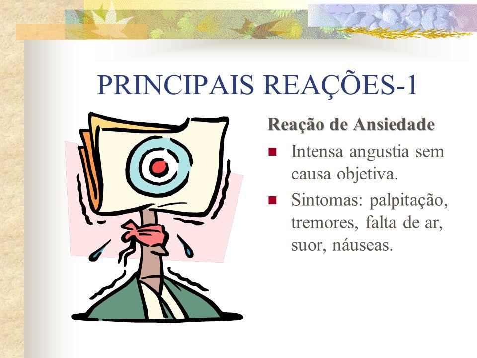 PRINCIPAIS REAÇÕES-1 Reação de Ansiedade