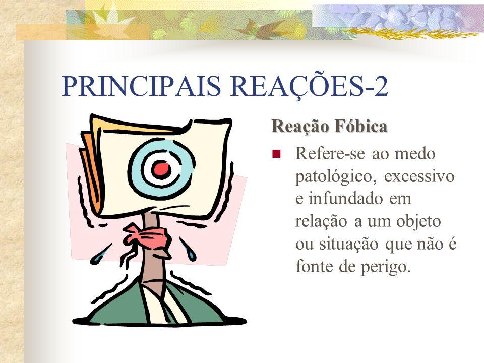 PRINCIPAIS REAÇÕES-2 Reação Fóbica
