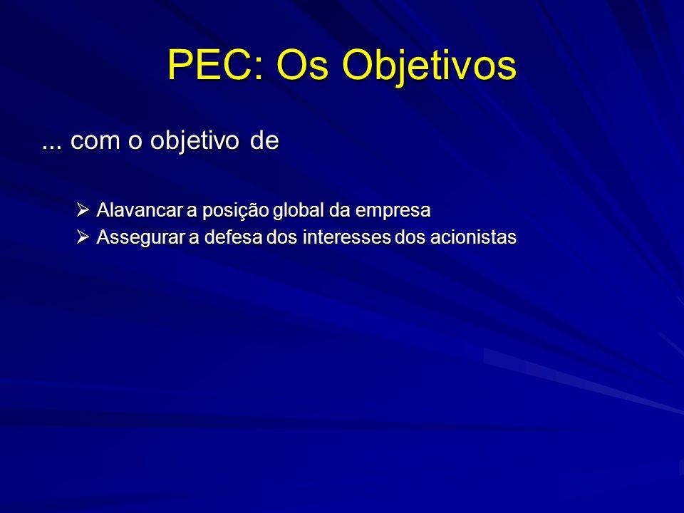 PEC: Os Objetivos ... com o objetivo de
