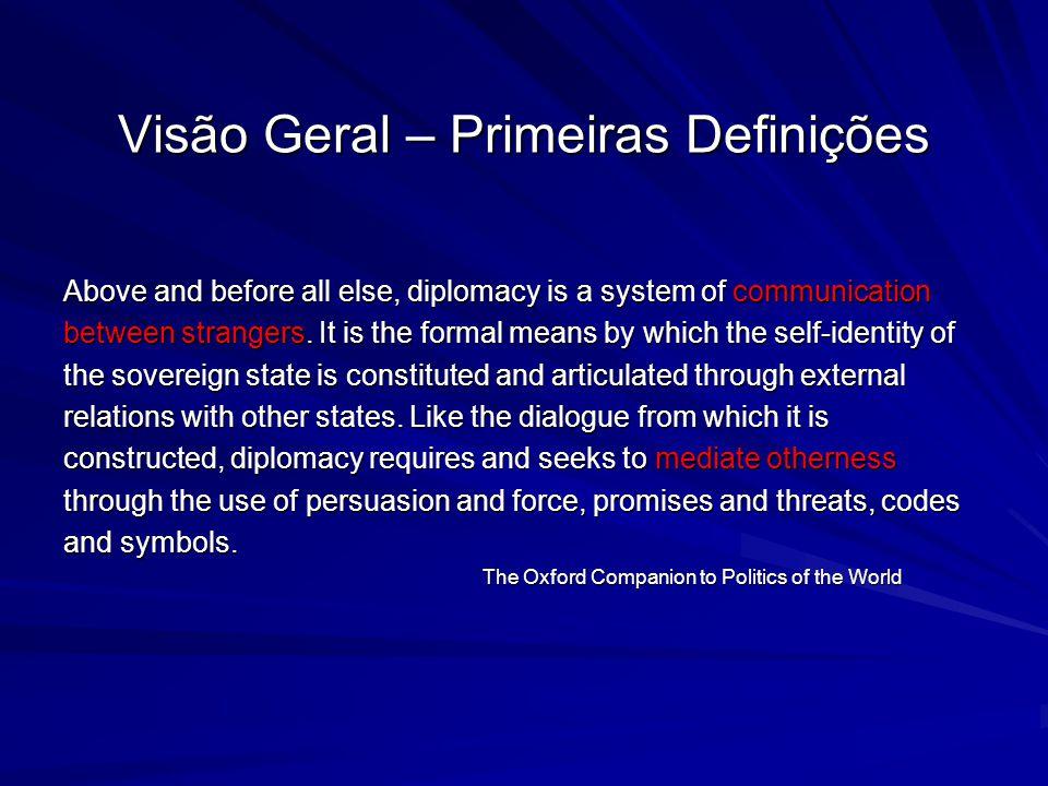 Visão Geral – Primeiras Definições