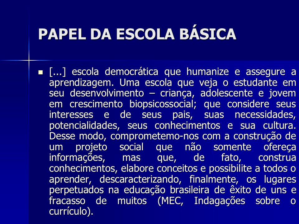 PAPEL DA ESCOLA BÁSICA