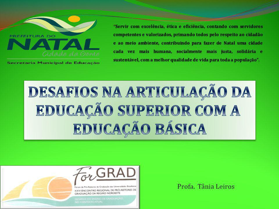 DESAFIOS NA ARTICULAÇÃO DA EDUCAÇÃO SUPERIOR COM A