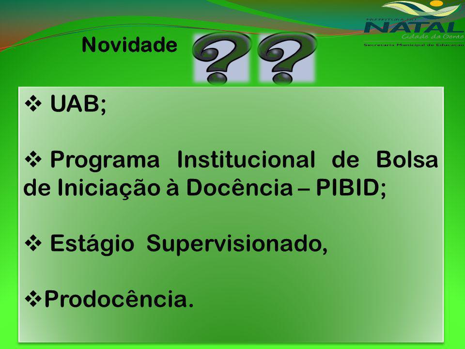 Programa Institucional de Bolsa de Iniciação à Docência – PIBID;