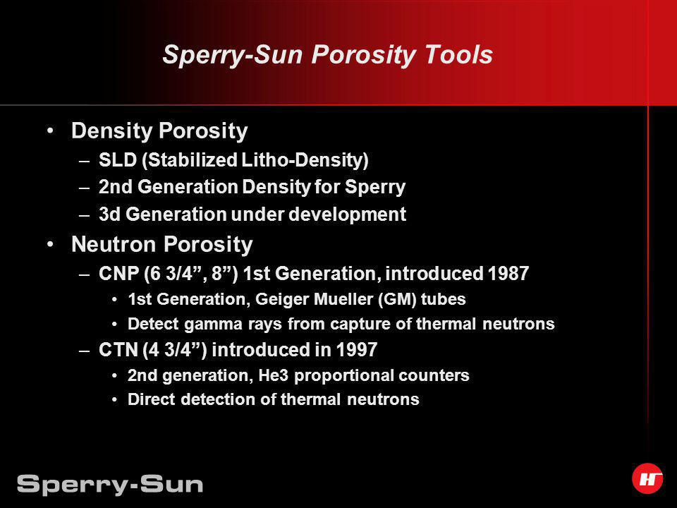 Sperry-Sun Porosity Tools