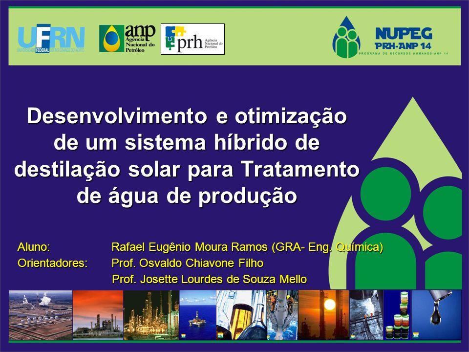 Desenvolvimento e otimização de um sistema híbrido de destilação solar para Tratamento de água de produção