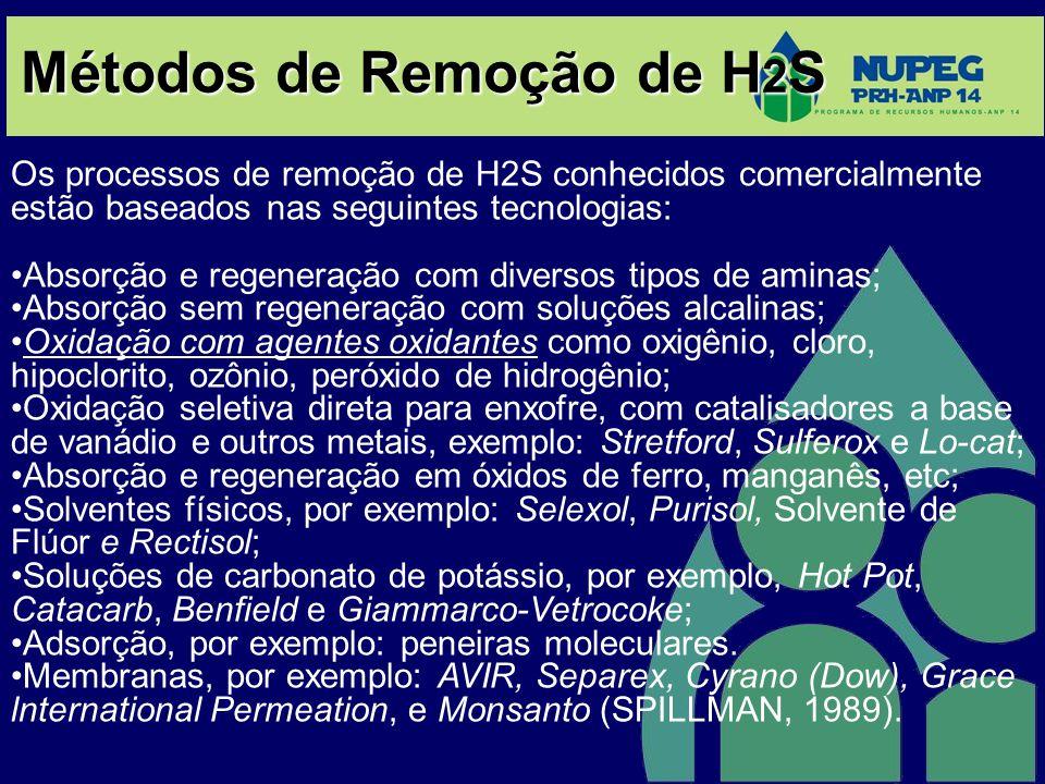 Métodos de Remoção de H2S