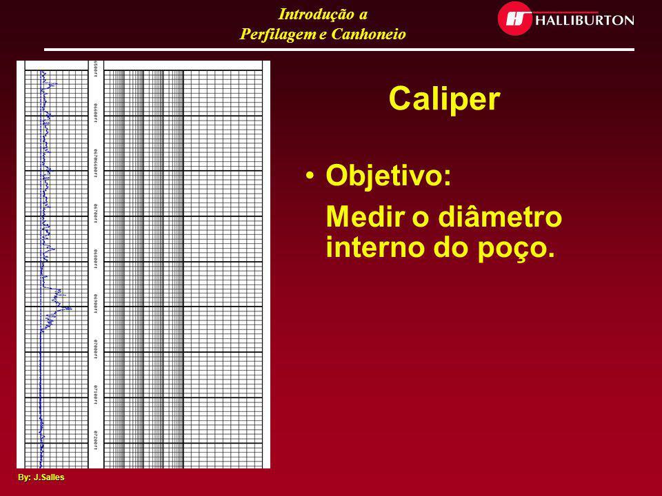 Caliper Objetivo: Medir o diâmetro interno do poço.