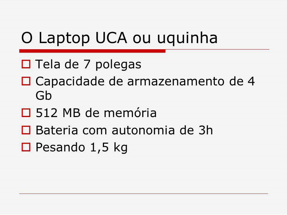O Laptop UCA ou uquinha Tela de 7 polegas