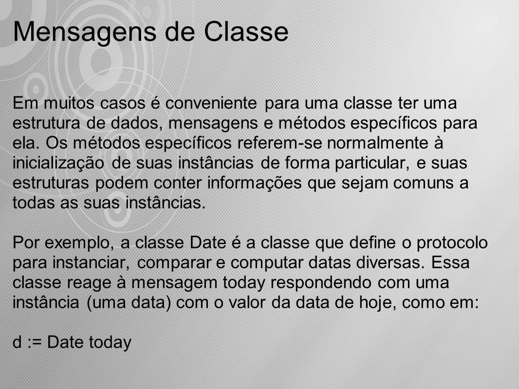 Mensagens de Classe