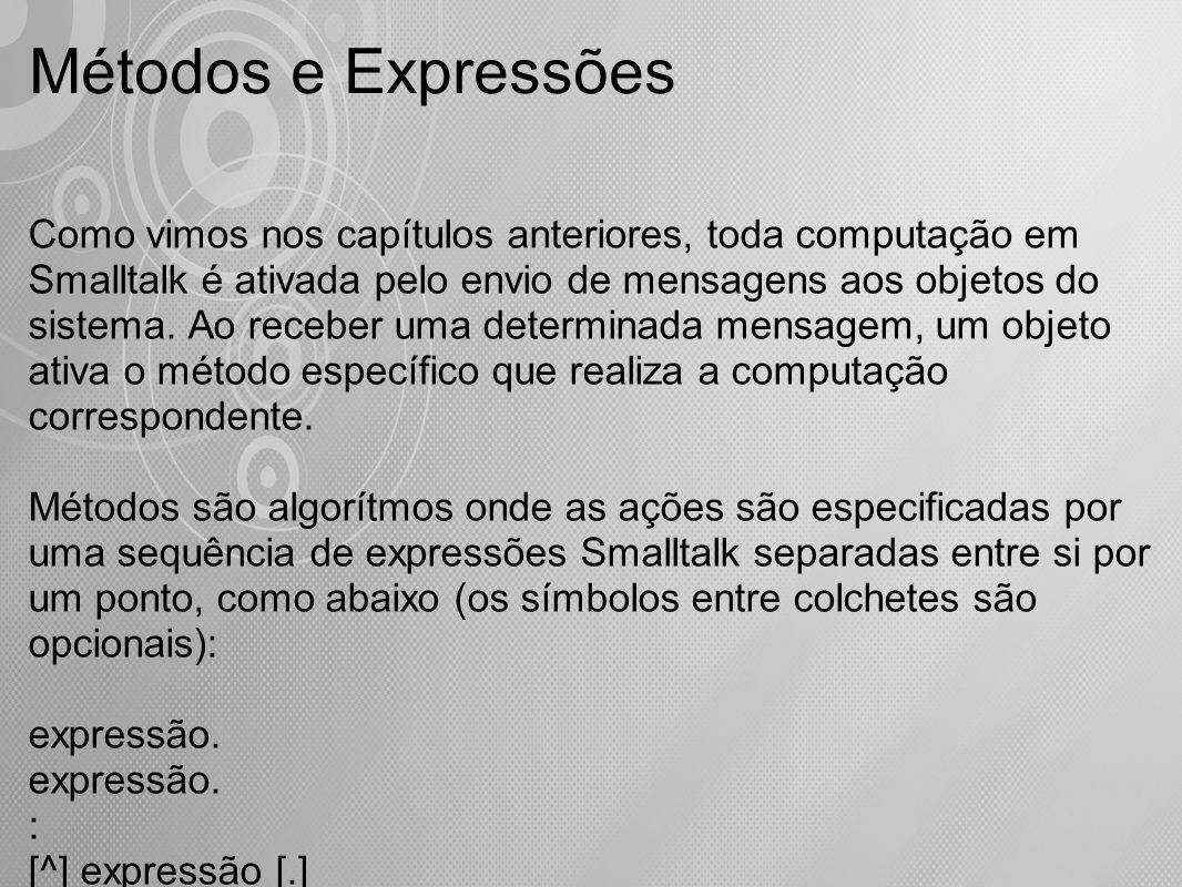 Métodos e Expressões