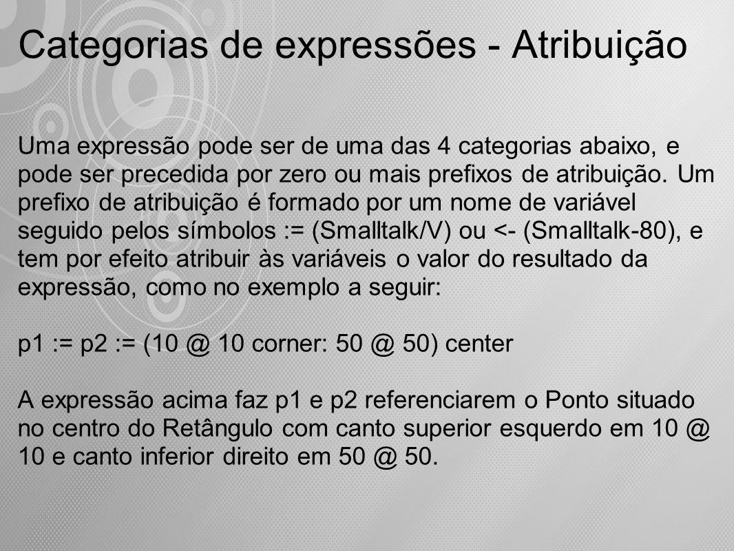 Categorias de expressões - Atribuição