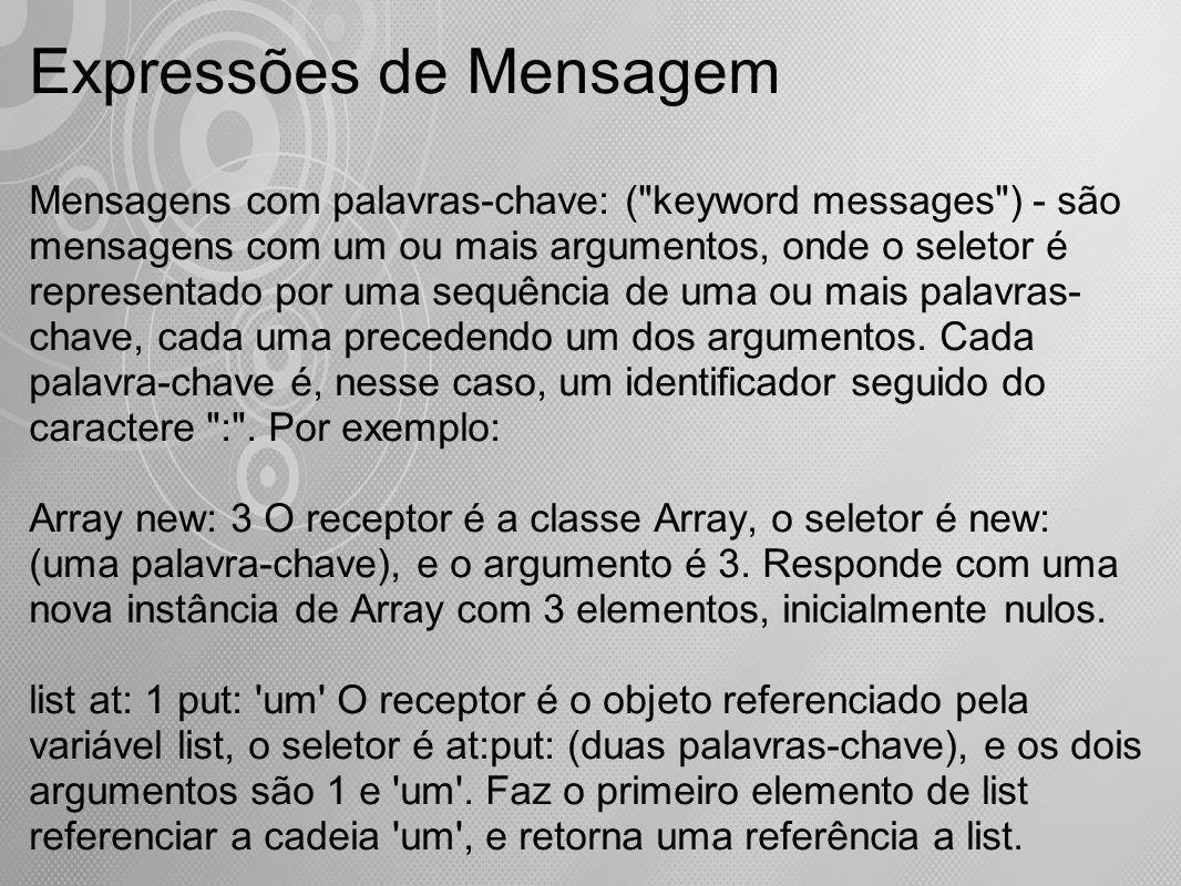 Expressões de Mensagem