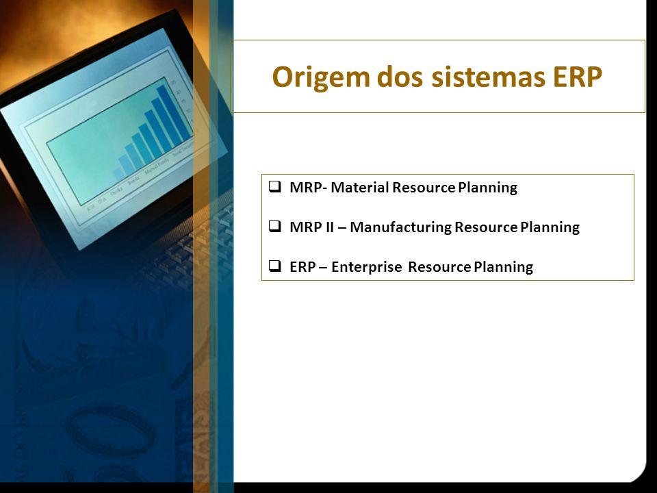 Origem dos sistemas ERP