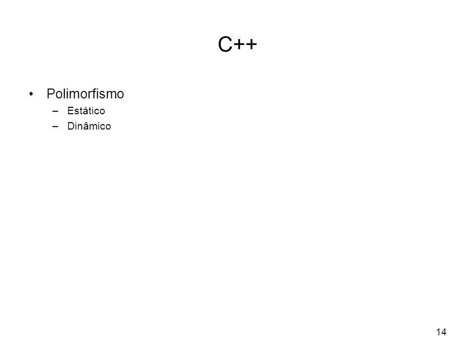 C++ Polimorfismo Estático Dinâmico