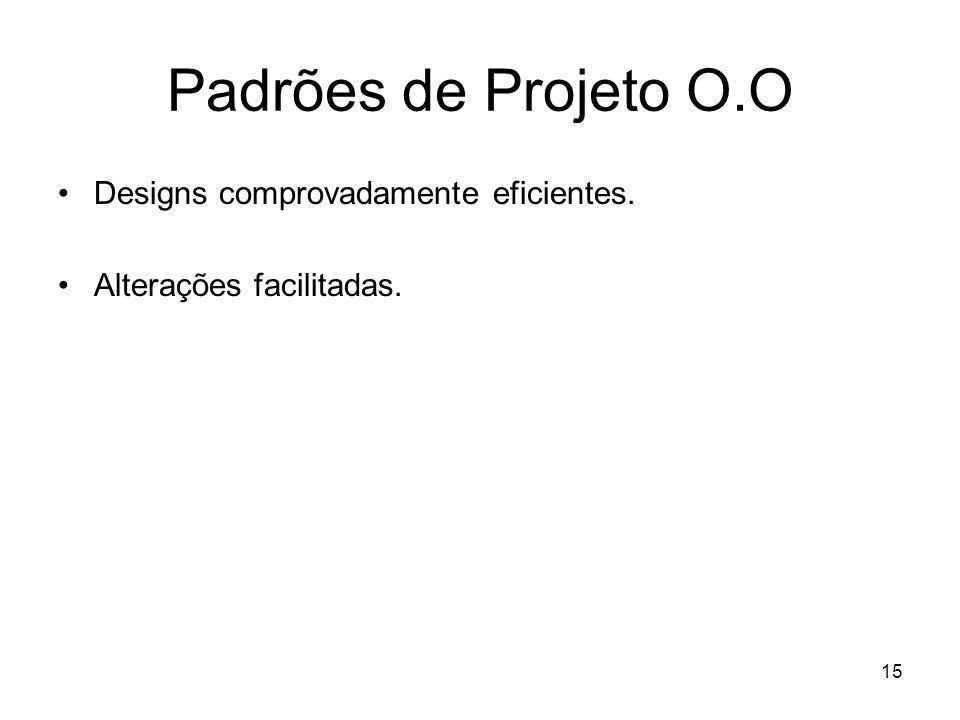 Padrões de Projeto O.O Designs comprovadamente eficientes.