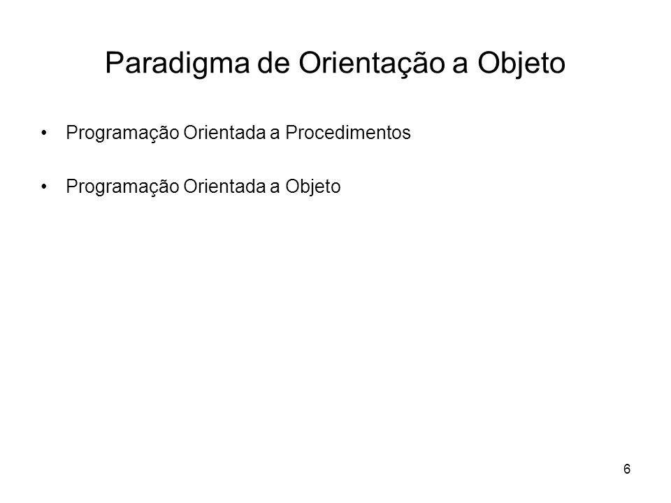 Paradigma de Orientação a Objeto