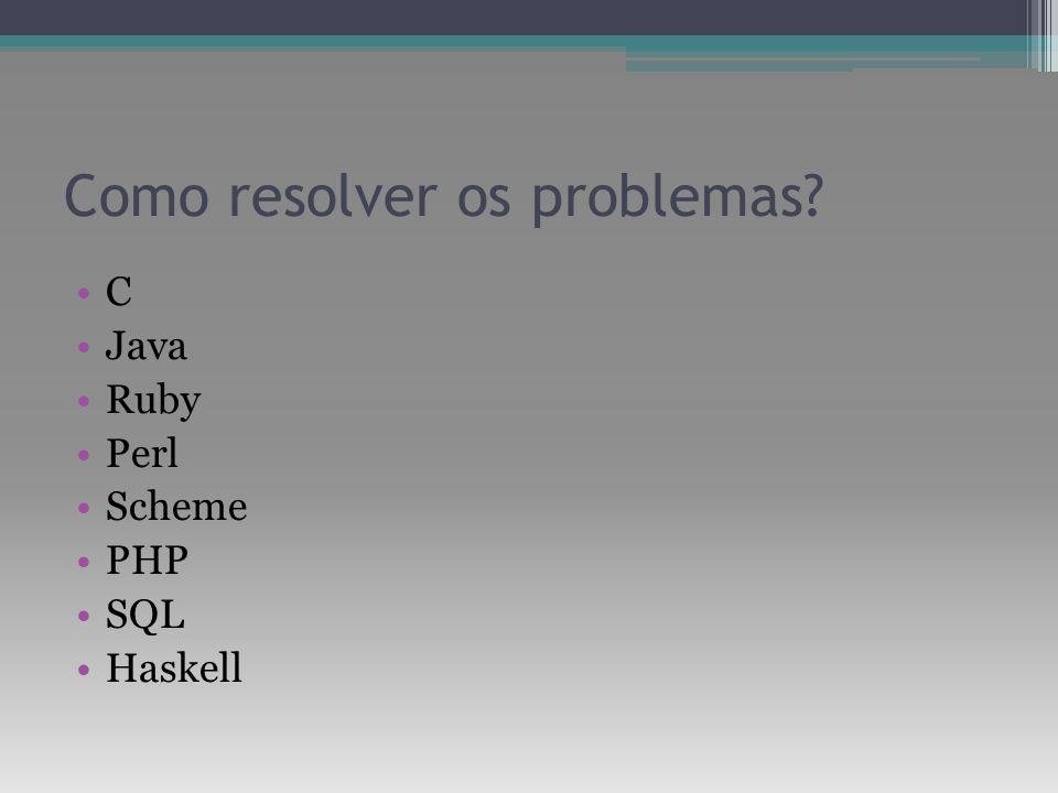 Como resolver os problemas