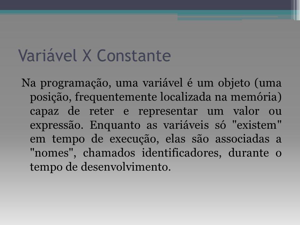 Variável X Constante