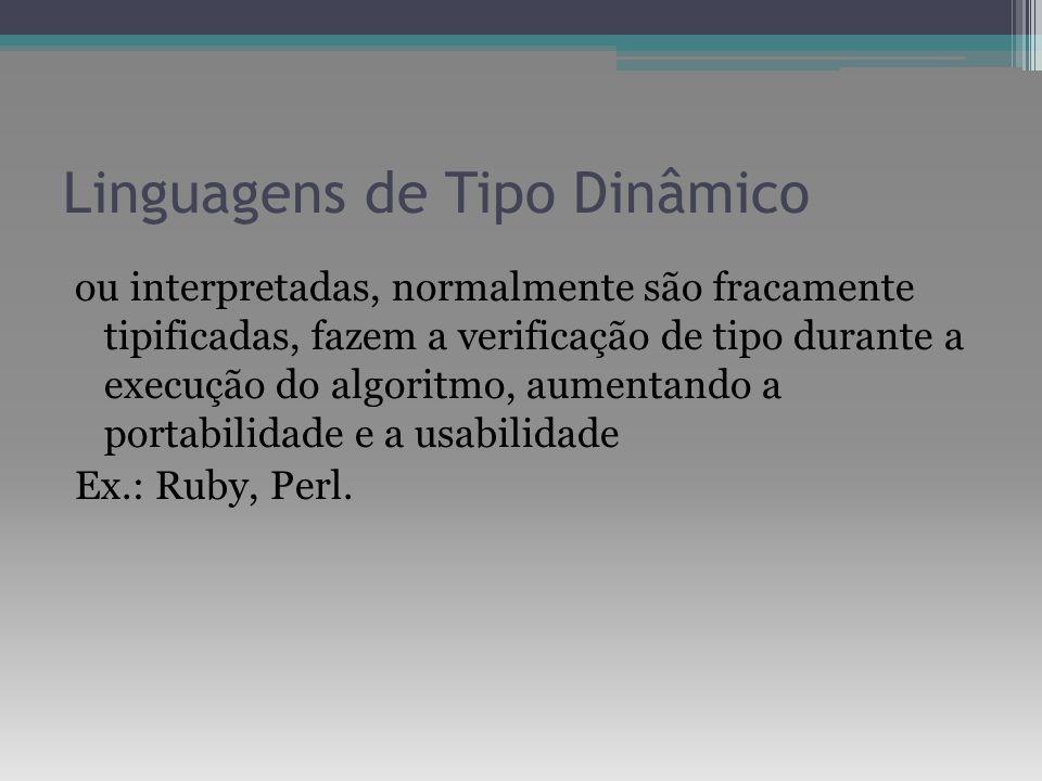 Linguagens de Tipo Dinâmico