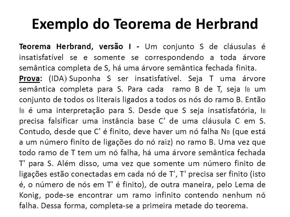 Exemplo do Teorema de Herbrand