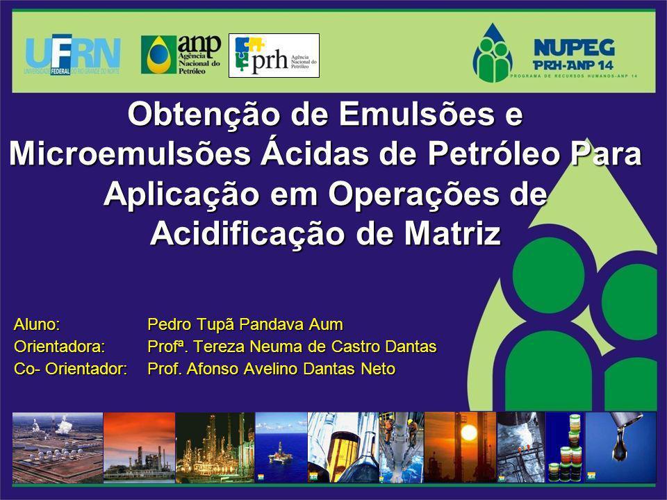 Obtenção de Emulsões e Microemulsões Ácidas de Petróleo Para Aplicação em Operações de Acidificação de Matriz