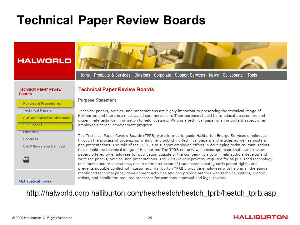 Technical Paper Review Boards
