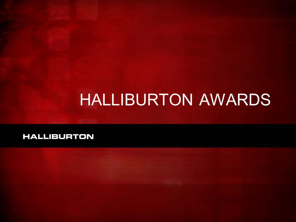 HALLIBURTON AWARDS