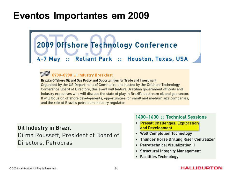 Eventos Importantes em 2009