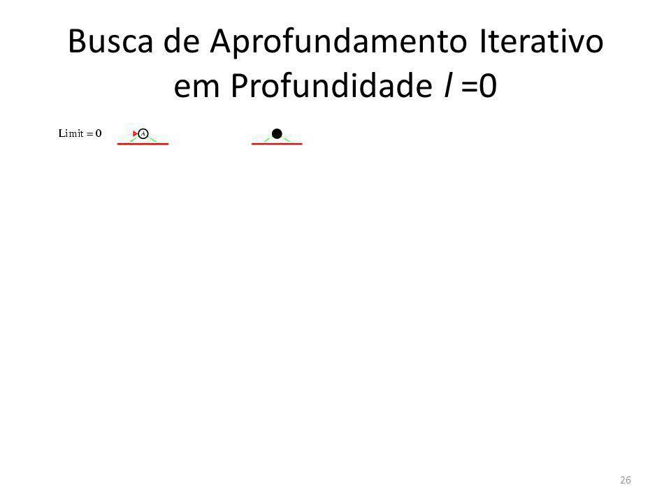 Busca de Aprofundamento Iterativo em Profundidade l =0