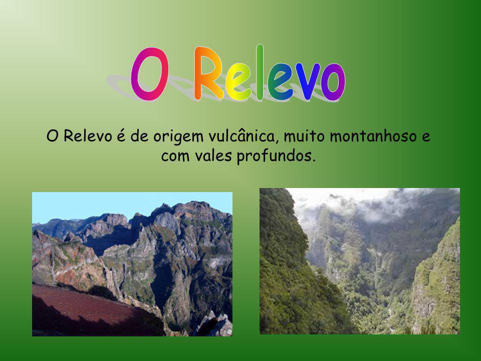 O Relevo O Relevo é de origem vulcânica, muito montanhoso e com vales profundos.