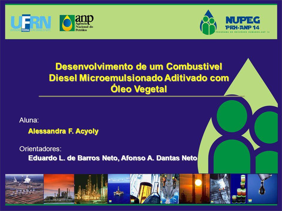Desenvolvimento de um Combustivel Diesel Microemulsionado Aditivado com Óleo Vegetal