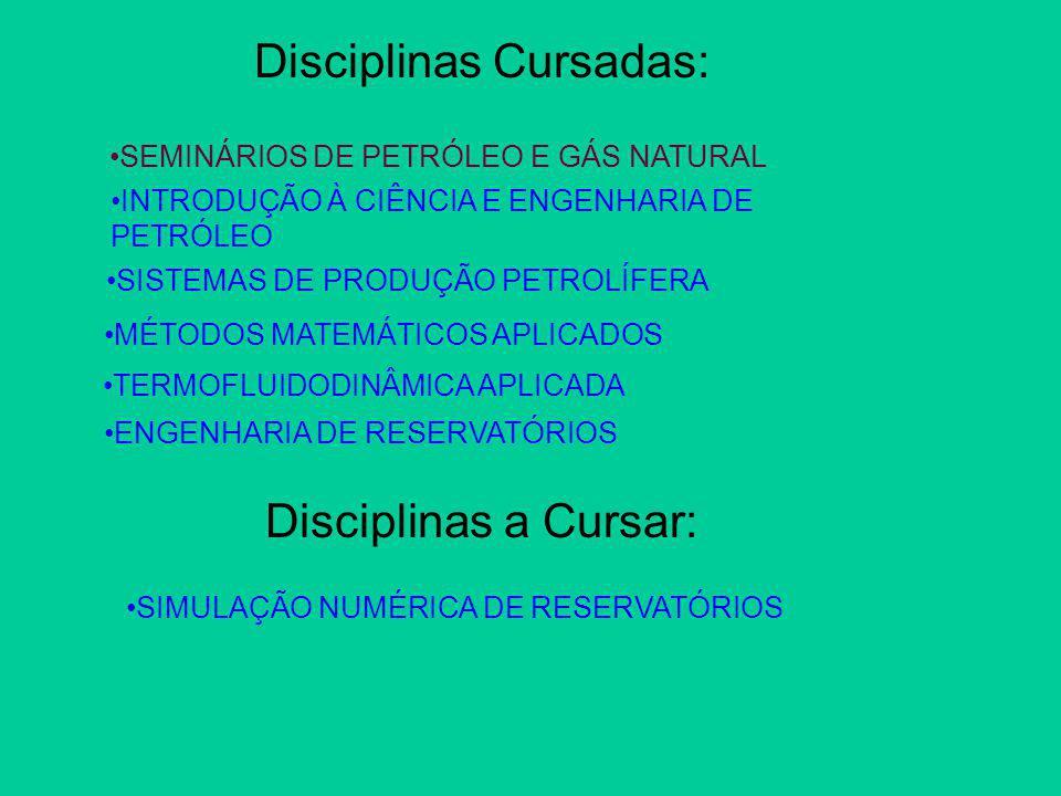 Disciplinas Cursadas: