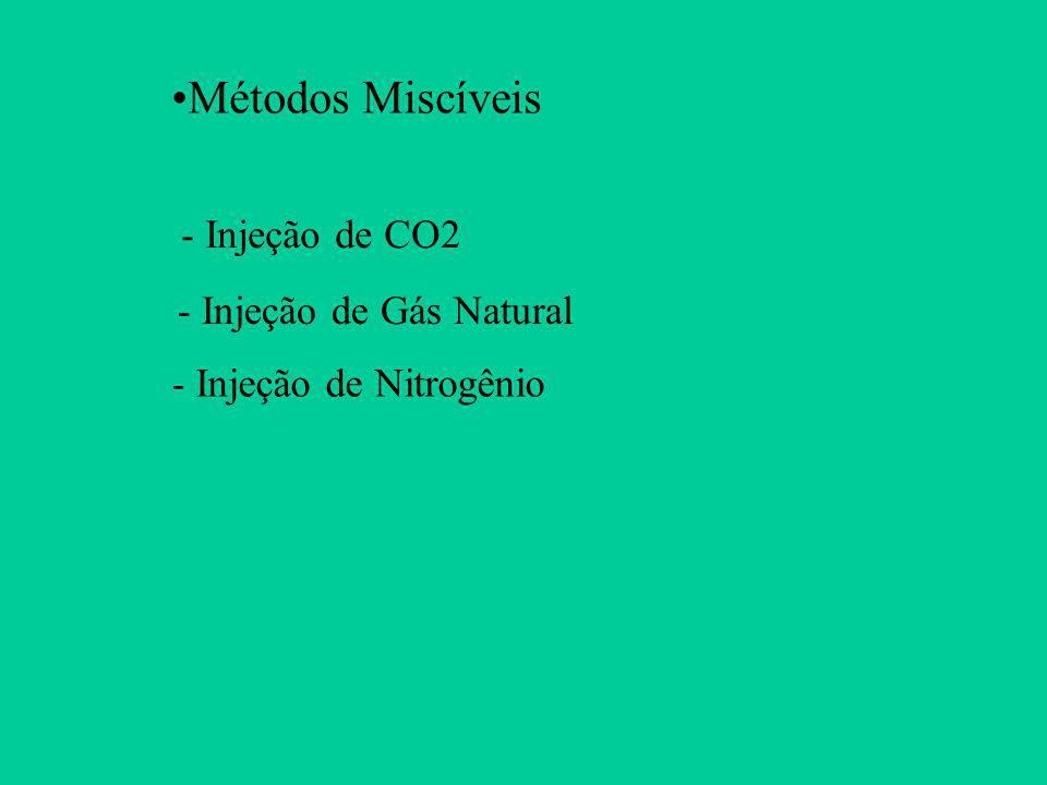 Métodos Miscíveis - Injeção de CO2 - Injeção de Gás Natural