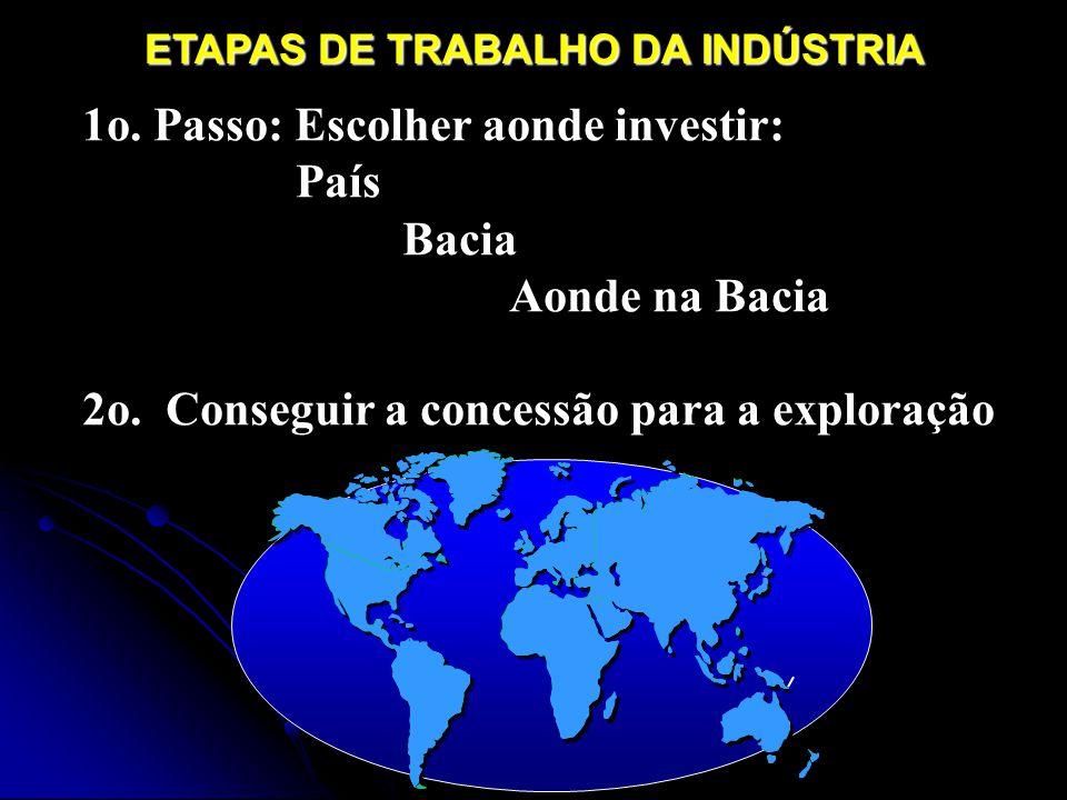 1o. Passo: Escolher aonde investir: País Bacia Aonde na Bacia