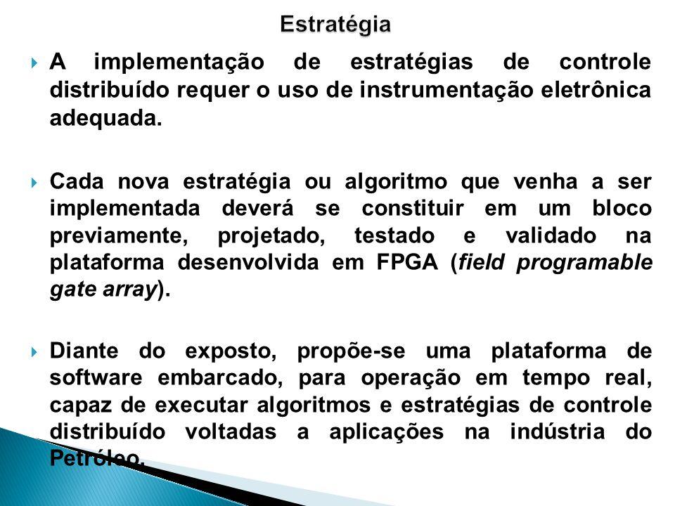 Estratégia A implementação de estratégias de controle distribuído requer o uso de instrumentação eletrônica adequada.