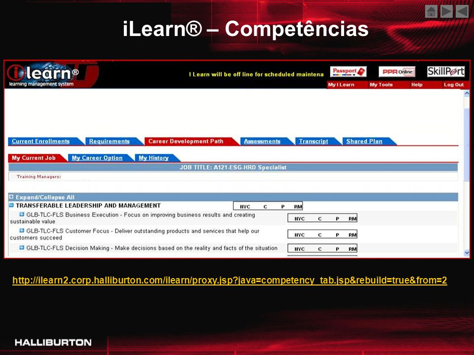 iLearn® – Competências