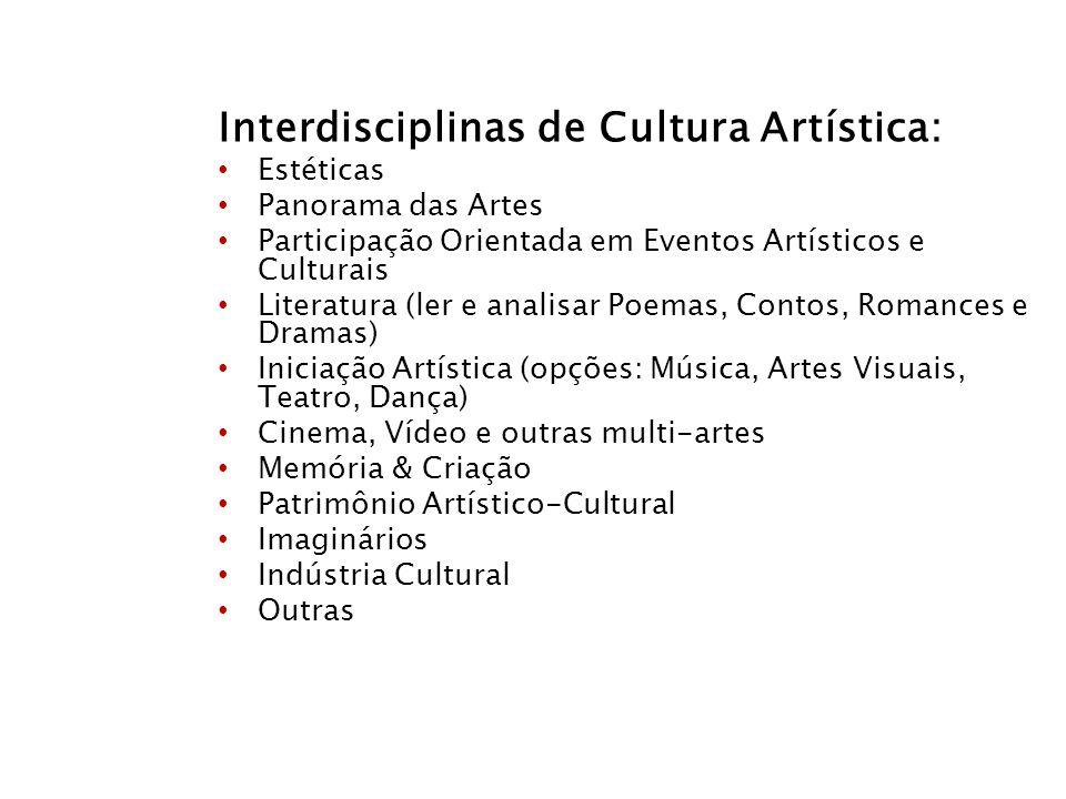 Interdisciplinas de Cultura Artística: