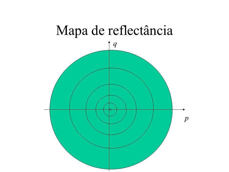 Mapa de reflectância q p