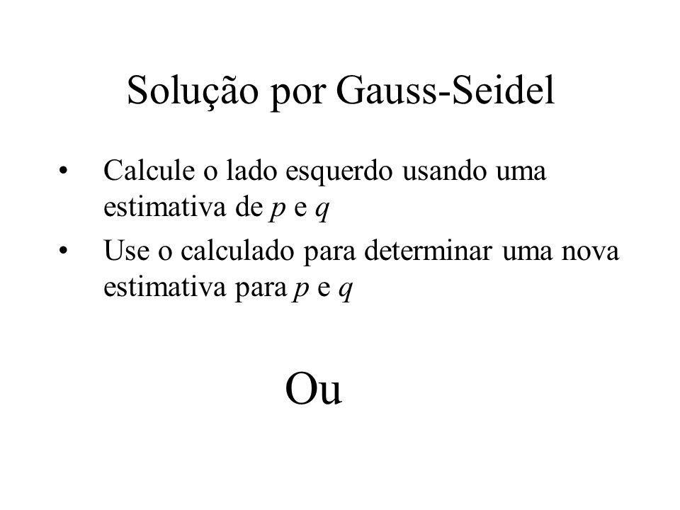 Solução por Gauss-Seidel