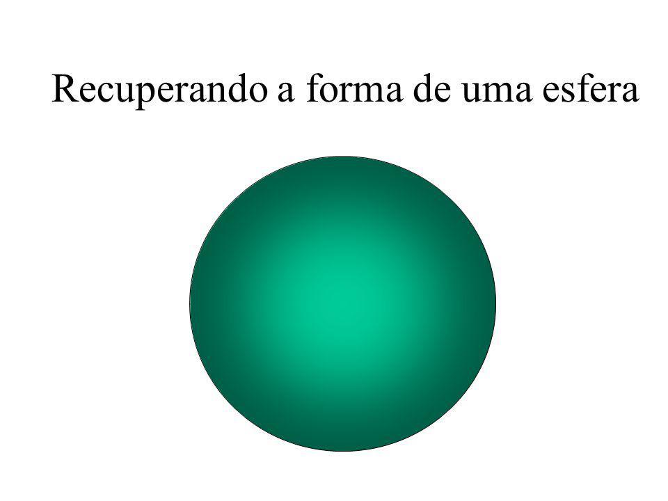 Recuperando a forma de uma esfera