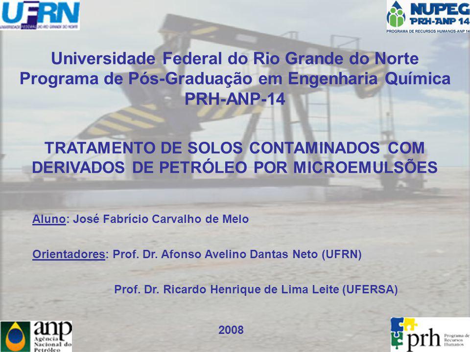 Universidade Federal do Rio Grande do Norte Programa de Pós-Graduação em Engenharia Química PRH-ANP-14