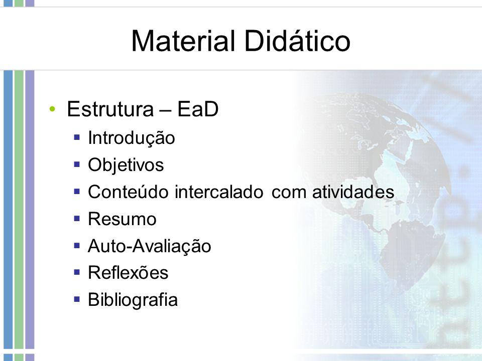Material Didático Estrutura – EaD Introdução Objetivos