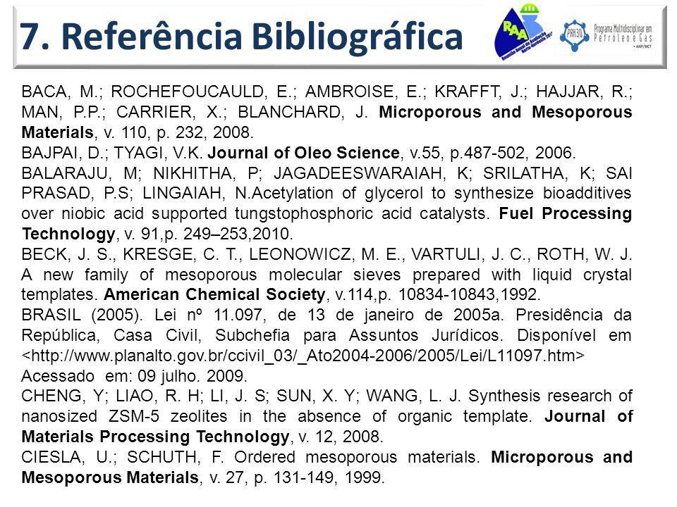 7. Referência Bibliográfica