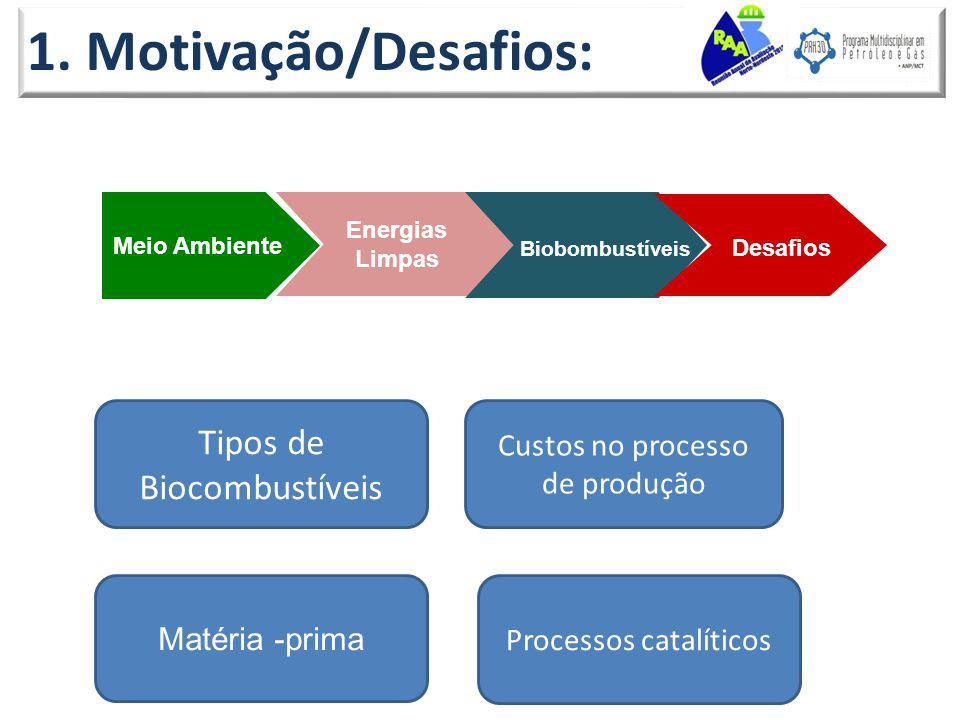 1. Motivação/Desafios: Tipos de Biocombustíveis