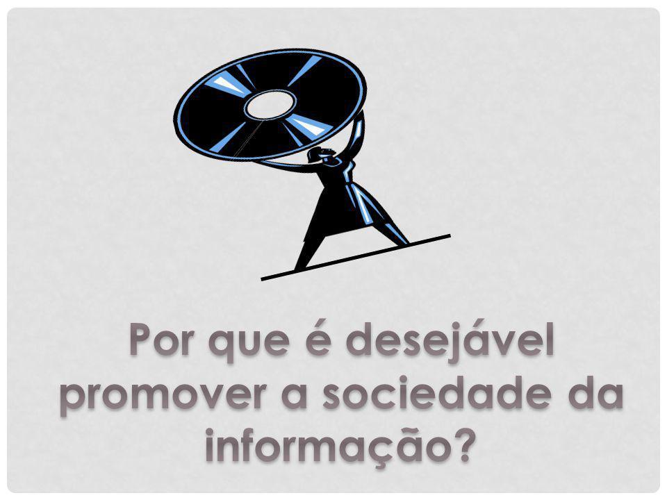 Por que é desejável promover a sociedade da informação