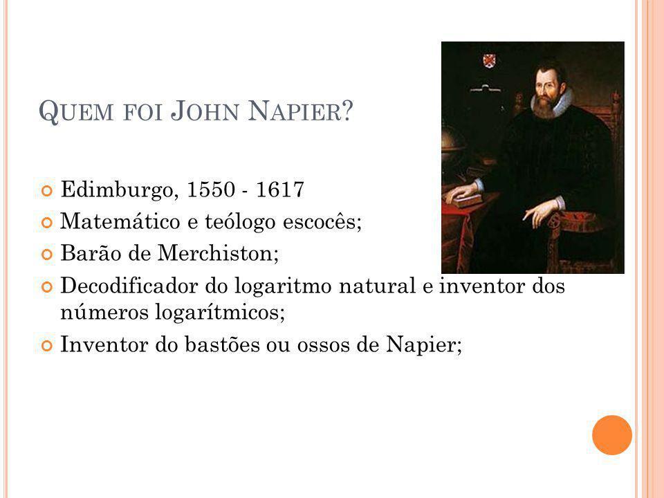 Quem foi John Napier Edimburgo, 1550 - 1617